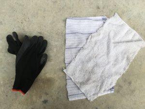 軍手と雑巾