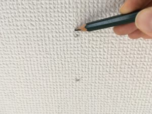 鉛筆で印をつける