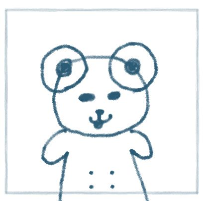 手書きのプロフィール画像