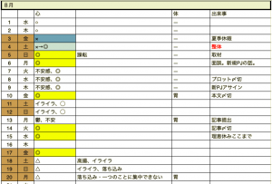 メンタルカレンダー