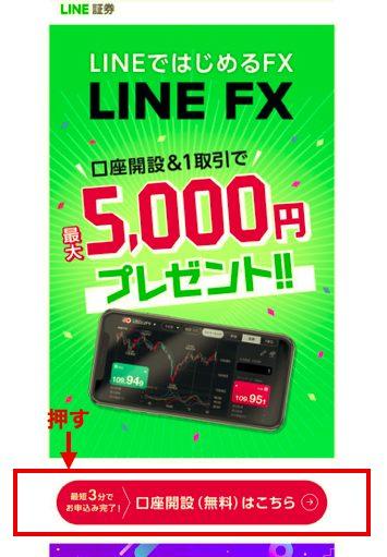 LINEFX口座を開設
