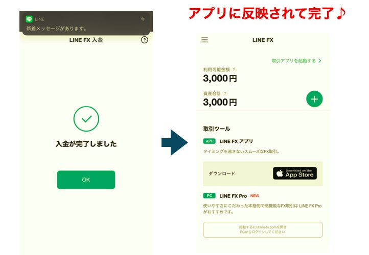 LINE FX アプリ